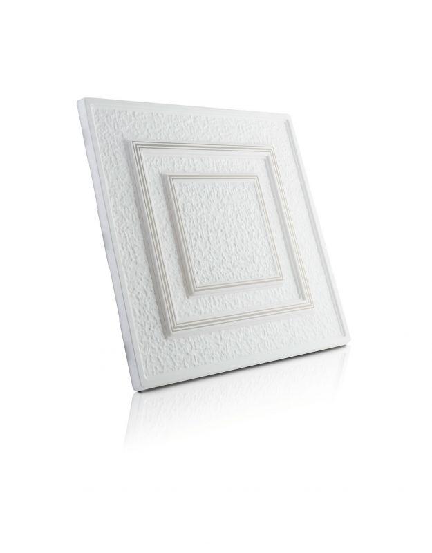 Stropní kazety – Antik – stříbrný potisk (50 x 50 x 2 cm) | www.strakastavoplast.cz