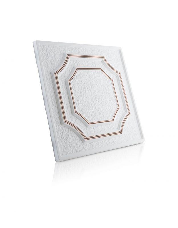 Stropní kazety – Barok – hnědý potisk (50 x 50 x 2 cm) | www.strakastavoplast.cz