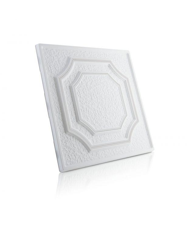 Stropní kazety – Barok – stříbrný potisk (50 x 50 x 2 cm)   www.strakastavoplast.cz