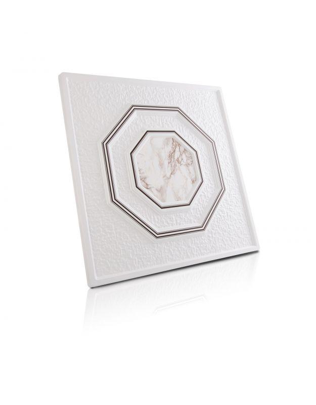 Stropní kazety – Osmiúhelník Exclusive (50 x 50 x 2 cm) | www.strakastavoplast.cz